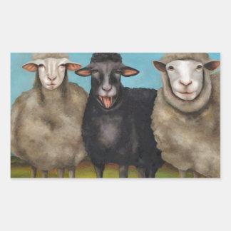 The Black Sheep Rectangular Sticker