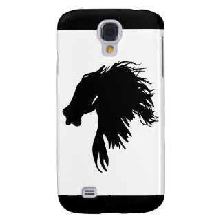 The black silhouette of a horse's head galaxy s4 case