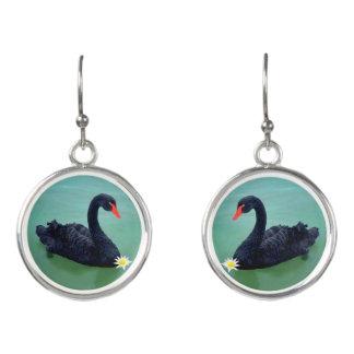 """The Black Swan"" Drop Earrings"