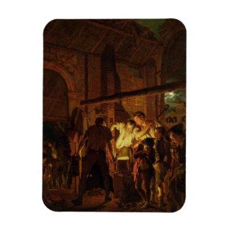 The Blacksmith's Shop (oil on canvas) Rectangular Photo Magnet