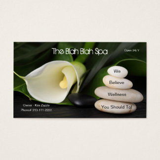 The Blah Blah Spa - (Not A Real Spa) Business Card