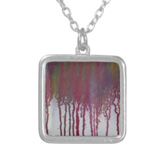 The Bleeding Edge Silver Plated Necklace