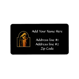 The Blessed Virgin Mary holding Baby Jesus Address Label