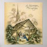 The Blessings of Christmas Nativity Scene Print
