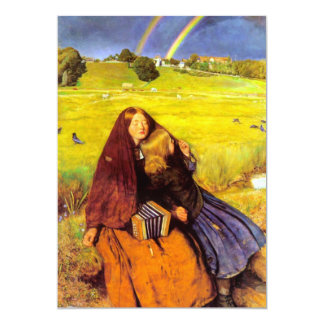 The Blind Girl Fine Art 13 Cm X 18 Cm Invitation Card