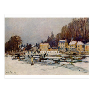 The Blocked Seine at Port Marly by Alfred Sisley Postcard