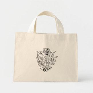 The Bloom of Okra Mini Tote Bag