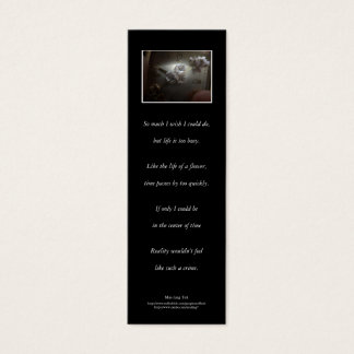 'The Blooming, the Withering...' poetry bookmark Mini Business Card