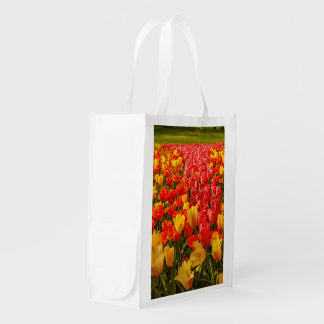 the blossoming of tulips  on  reusable bag