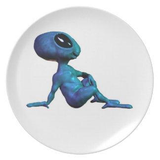 The Blue Alien Cult Plate