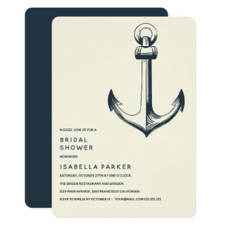 The Blue Anchor | Wedding Bridal Shower Card