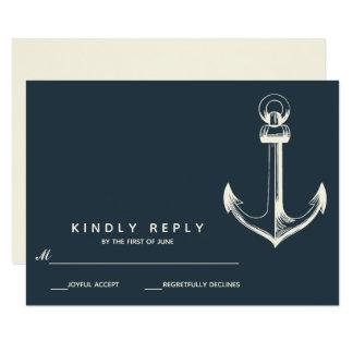 The Blue anchor | Wedding RSVP Card