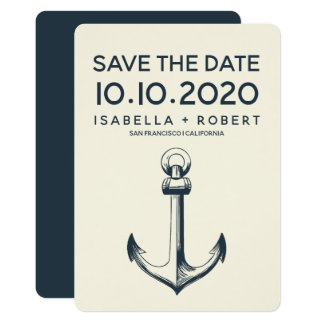 The Blue Anchor | Wedding Save the Date Card