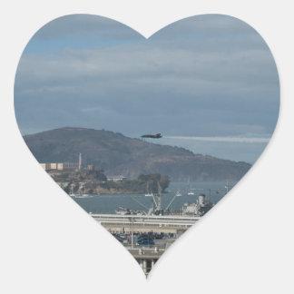 The Blue Angels Head to Alcatraz.jpg Heart Sticker