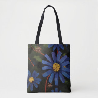 The Blue Aster Flower Tote. Tote Bag