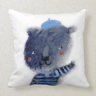 The blue bear throw pillow