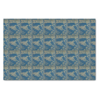 The blue bird -vintage book cover tissue paper