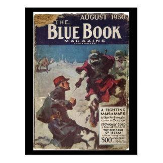 The Blue Book Magazine _August 1930_3_Pulp Art Postcard