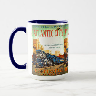 The Blue Comet Passenger Train Mug