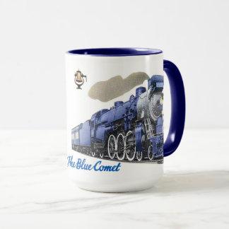 The Blue Comet Steam Locomotive Mug