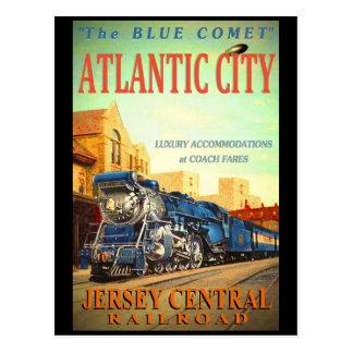 The Blue Comet Train Postcard