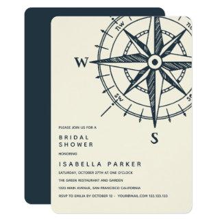 The Blue Compass | Wedding Bridal Shower Card