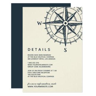 The Blue Compass | Wedding Guest Details Card