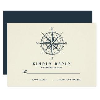 The Blue Compass | Wedding RSVP Card
