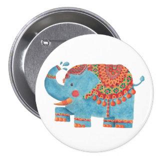 The Blue Elephant Pinback Button