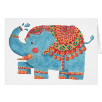 The Blue Elephant Card