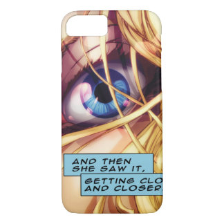 The Blue Eye Comic Strip of An Eye Looking At You iPhone 7 Case
