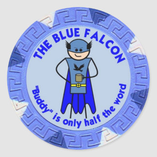 The Blue Falcon custom sticker