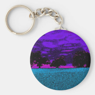 THE BLUE FIELD KEY RING