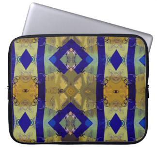 the blue green cool shapes sleeve laptop