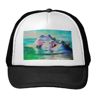 The blue Hippo Trucker Hat