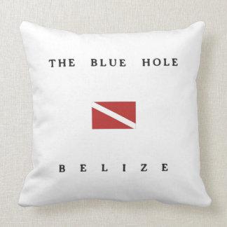 The Blue Hole Belize Scuba Dive Flag Throw Pillow