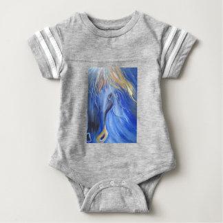 the Blue Horse Baby Bodysuit