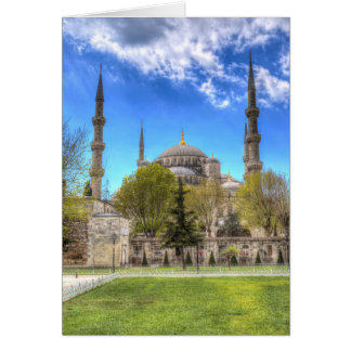 The Blue Mosque Istanbul Turkey Card