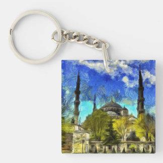 The Blue Mosque Istanbul Van Gogh Key Ring