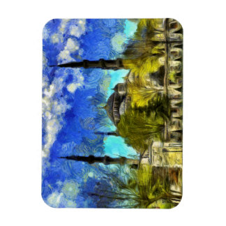 The Blue Mosque Istanbul Van Gogh Magnet