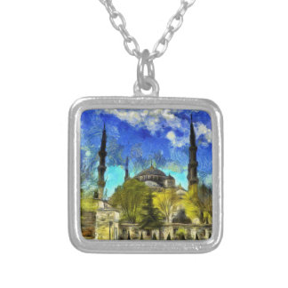 The Blue Mosque Istanbul Van Gogh Silver Plated Necklace