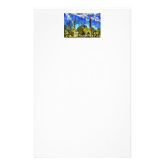 The Blue Mosque Istanbul Van Gogh Stationery