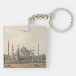 The Blue Mosque of Sultan Ahmed, Istanbul, Turkey Key Ring