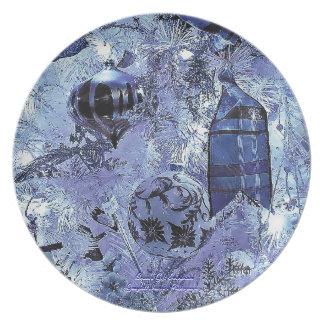 The Blue Ornament Dinner Plates