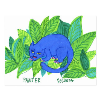 The Blue Panther Postcard