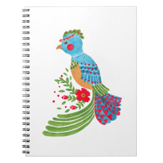 The Blue Quetzal Spiral Notebook