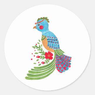 The Blue Quetzal Round Sticker