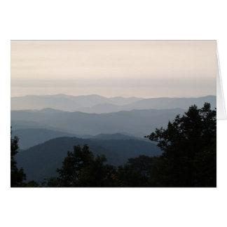 The Blue Ridge at Dusk - Gideon Ridge Inn Card
