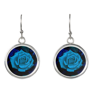 The Blue Rose Fashion Earrings by Julie Everhart