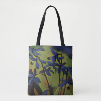 The Blue Snowdrop Flower Tote. Tote Bag